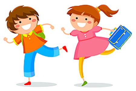 Cartoon of happy children